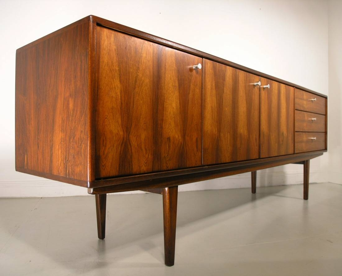 Rosewood Younger Sideboard Vintage Retro Danish throughout Retro Sideboards (Image 18 of 30)