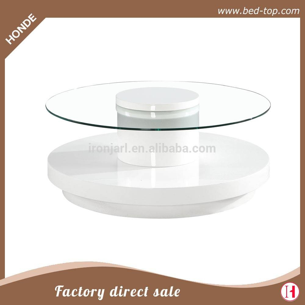 Rotating Top Center Table, Rotating Top Center Table Suppliers And throughout Revolving Glass Coffee Tables (Image 27 of 30)