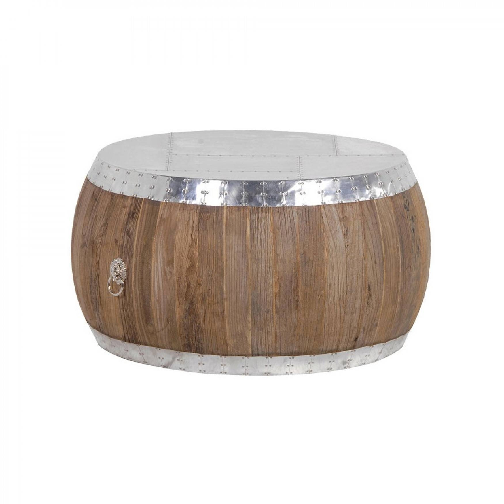 Round Aluminium And Elm Coffee Table intended for Aluminium Coffee Tables (Image 28 of 30)
