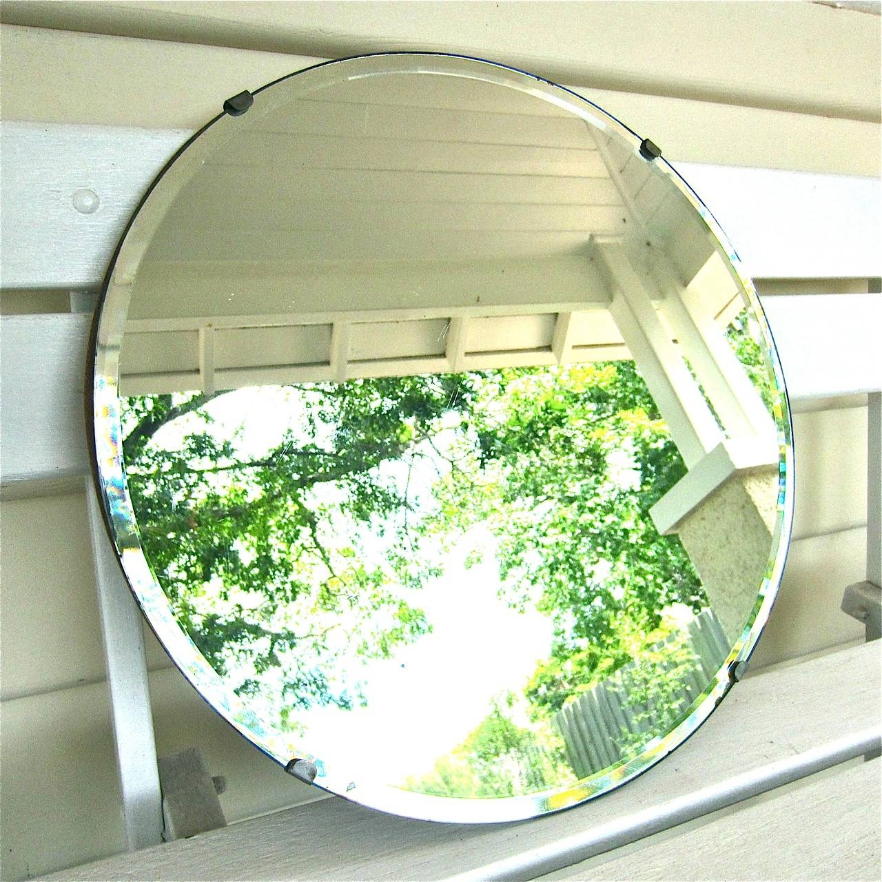 Round Bevelled Mirror ~ Sold - My French Finds in Round Bevelled Mirrors (Image 15 of 25)