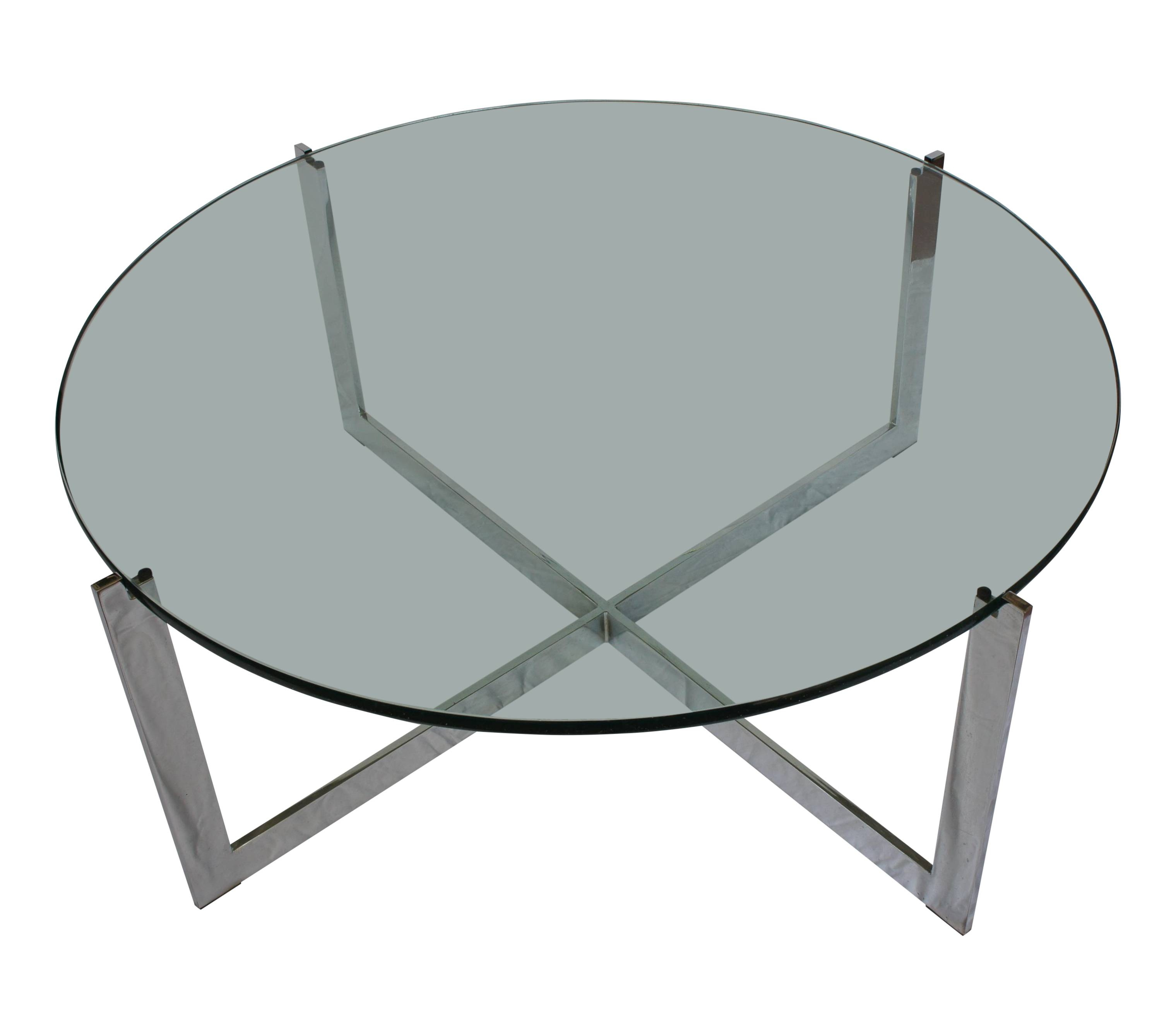 Round Black Glass And Chrome Coffee Table | Coffee Tables Decoration intended for Glass Circular Coffee Tables (Image 22 of 31)