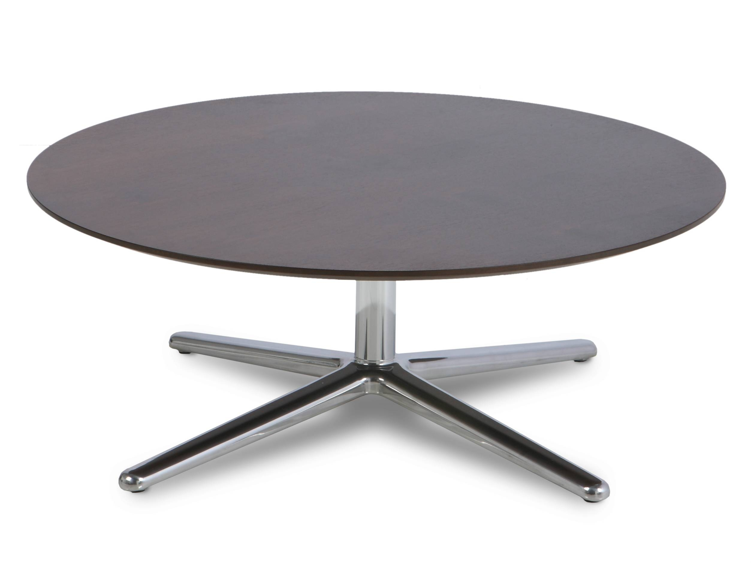 Round Black Glass And Chrome Coffee Table | Coffee Tables Decoration with regard to Chrome Coffee Table Bases (Image 28 of 30)