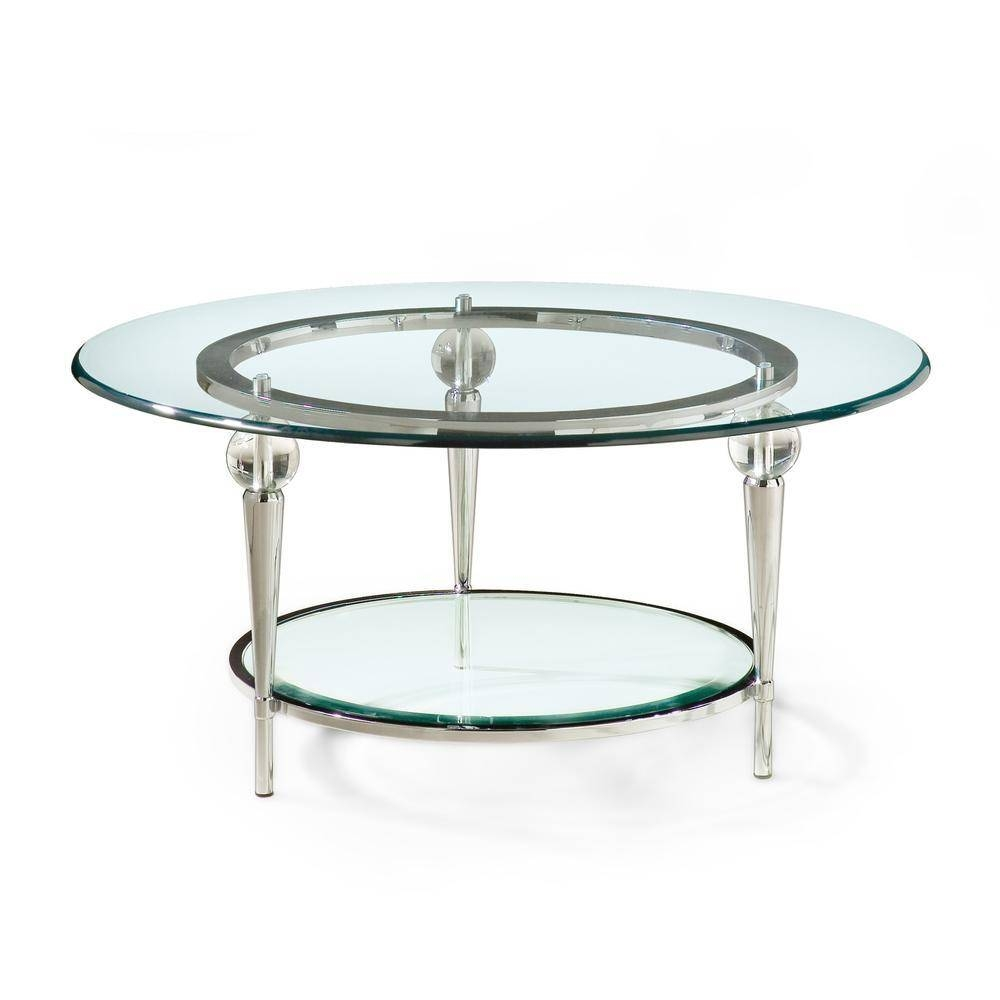 Round Chrome Coffee Table – Round Glass Coffee Table With Chrome in Round Chrome Coffee Tables (Image 23 of 30)