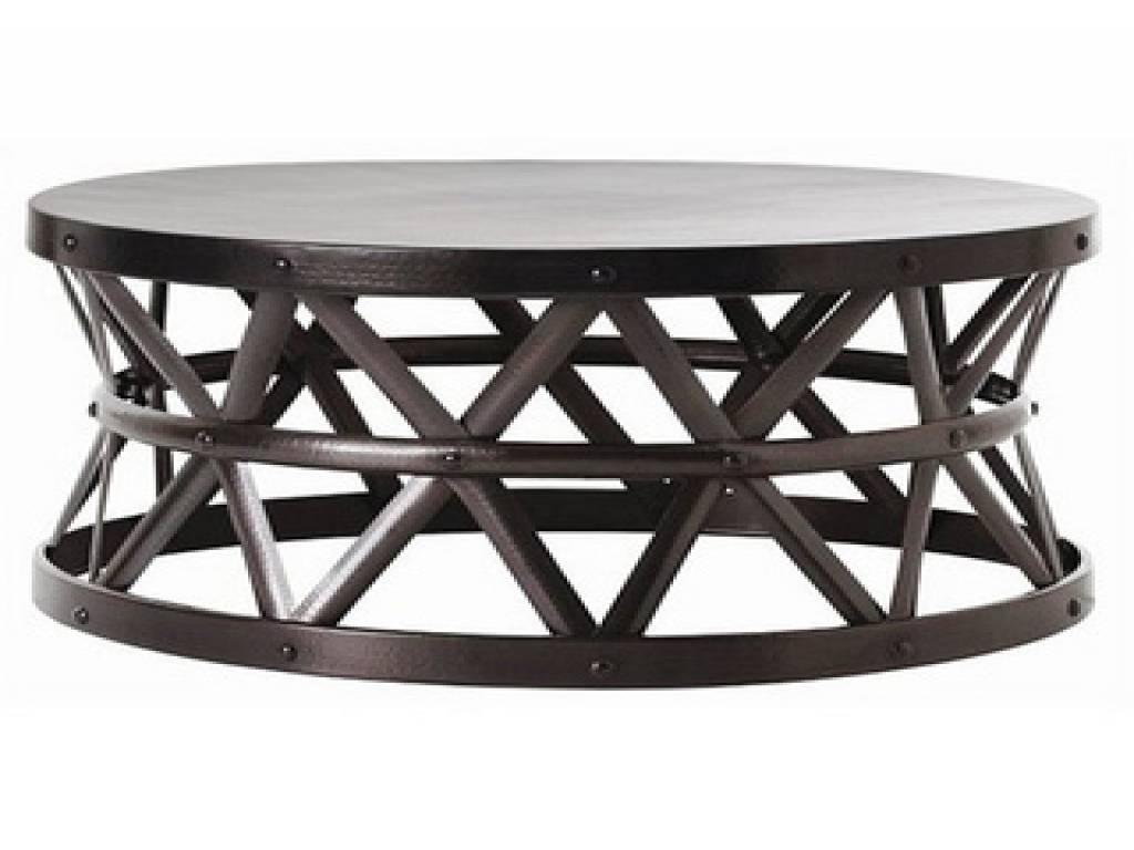 Round Coffee Table And End Tables, Silver Hammered Coffee Table in Silver Drum Coffee Tables (Image 25 of 30)