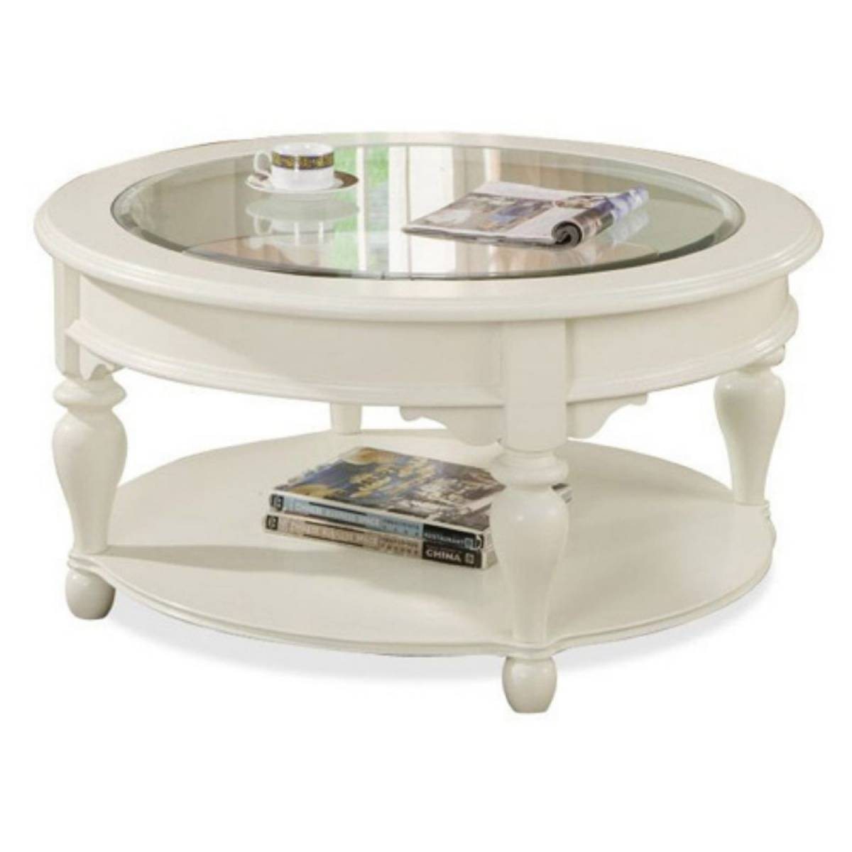 Round Coffee Table Antique White | Coffee Tables Decoration in Circular Coffee Tables With Storage (Image 22 of 30)