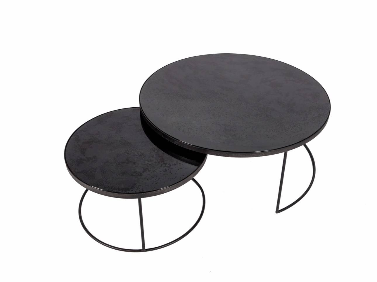 Round Coffee Table Charcoal Nesting Coffee Table Setnotre Throughout Coffee Table With Chairs (View 30 of 30)