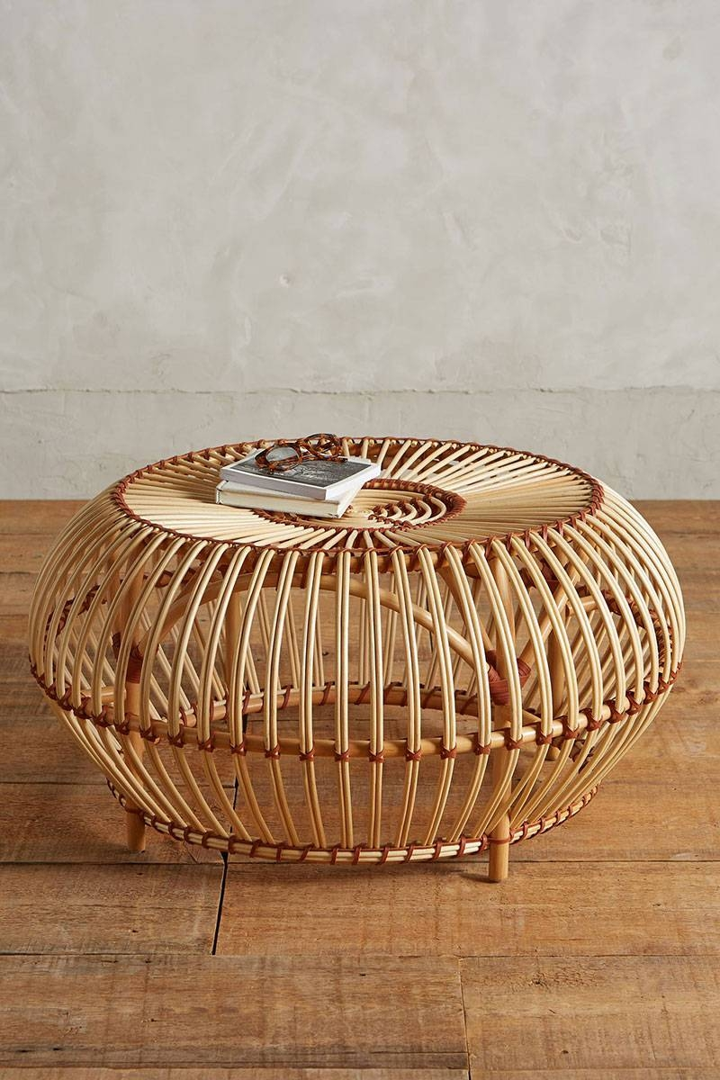 Round Coffee Table: Charming Round Rattan Coffee Table Design in Round Woven Coffee Tables (Image 21 of 30)