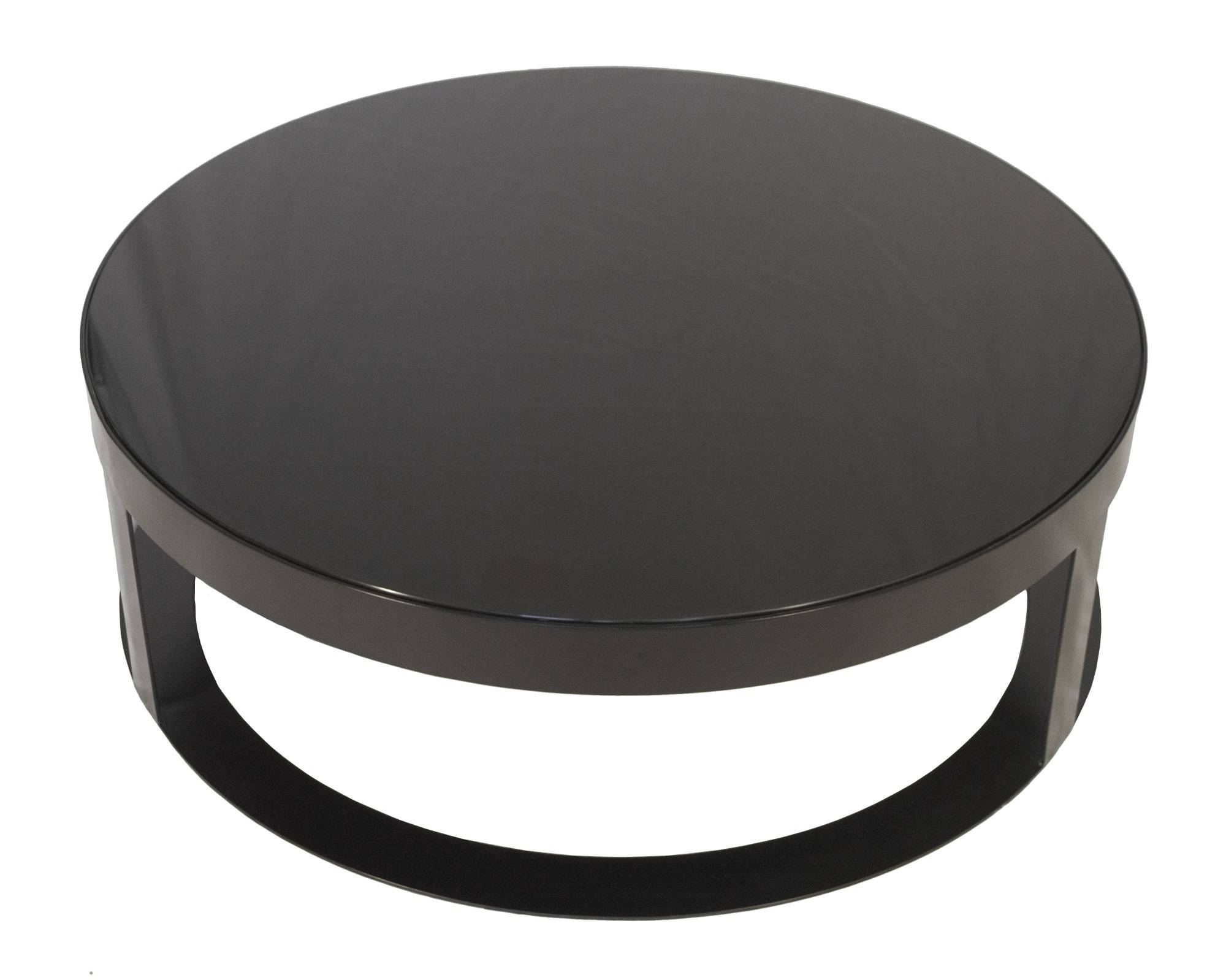 Round Coffee Table. Coffee Table Angelo Home Allen Round Coffee for Black Glass Coffee Tables (Image 27 of 30)
