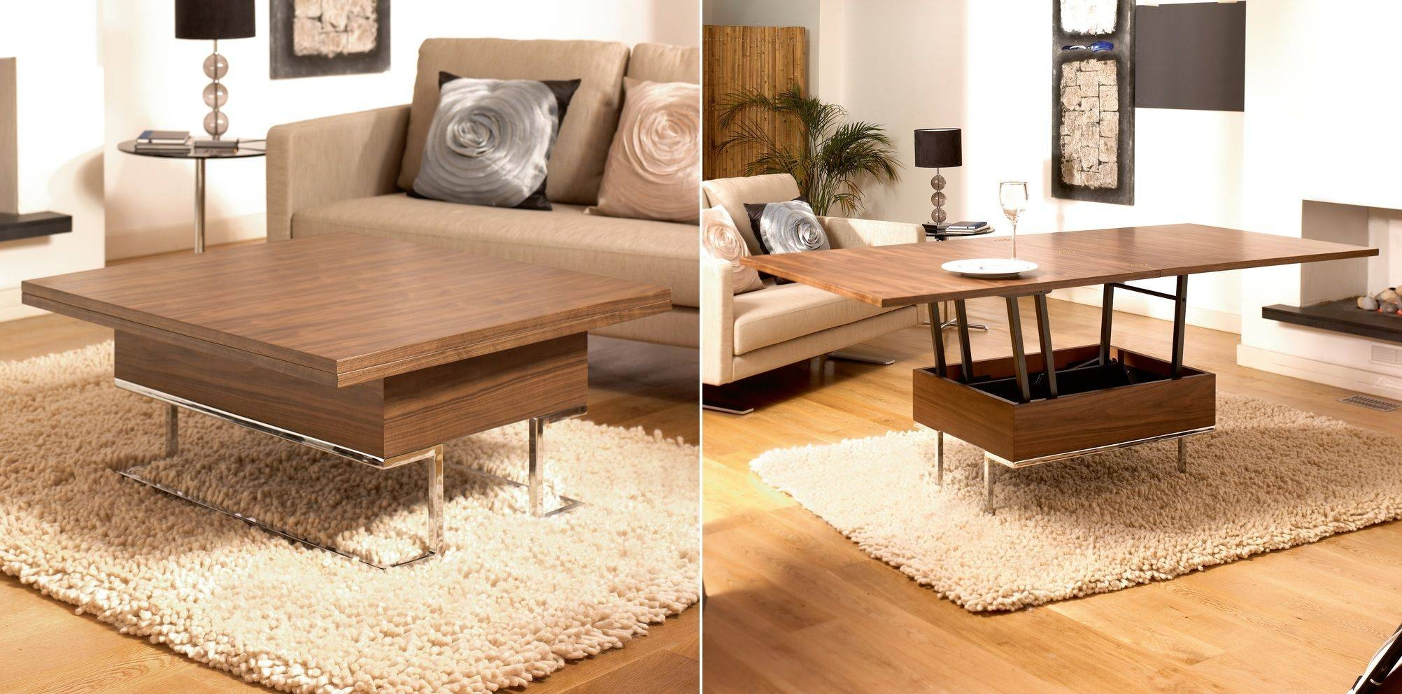 Round Coffee Table Converts To Dining Table | Coffee Tables Decoration throughout Coffee Tables Extendable Top (Image 25 of 30)