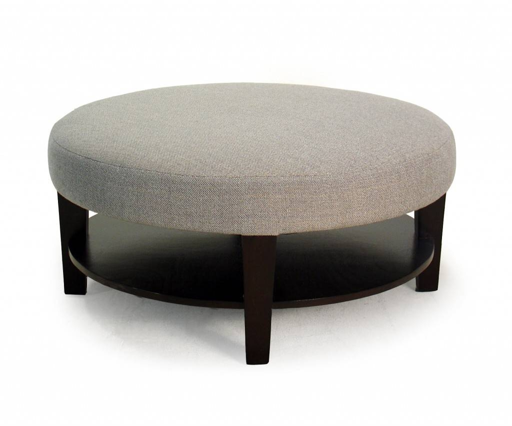 Round Coffee Table Ottoman ~ Bacill regarding Round Upholstered Coffee Tables (Image 23 of 30)