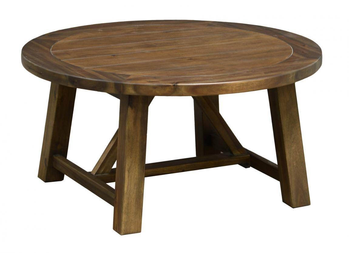2018 popular round pine coffee tables for Pine coffee table