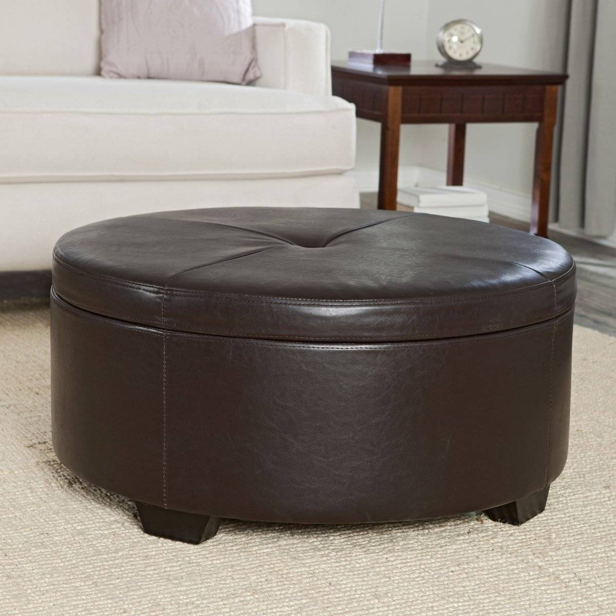 Round Coffee Table With Seats Underneath The Round Coffee Table intended for Circular Coffee Tables With Storage (Image 23 of 30)
