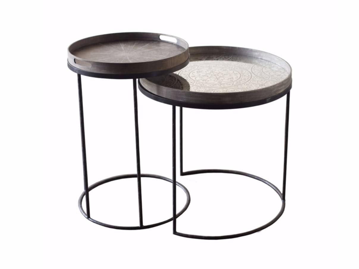 Round Coffee Table With Tray Round Tray Table Set Low Xlnotre pertaining to Round Tray Coffee Tables (Image 20 of 30)
