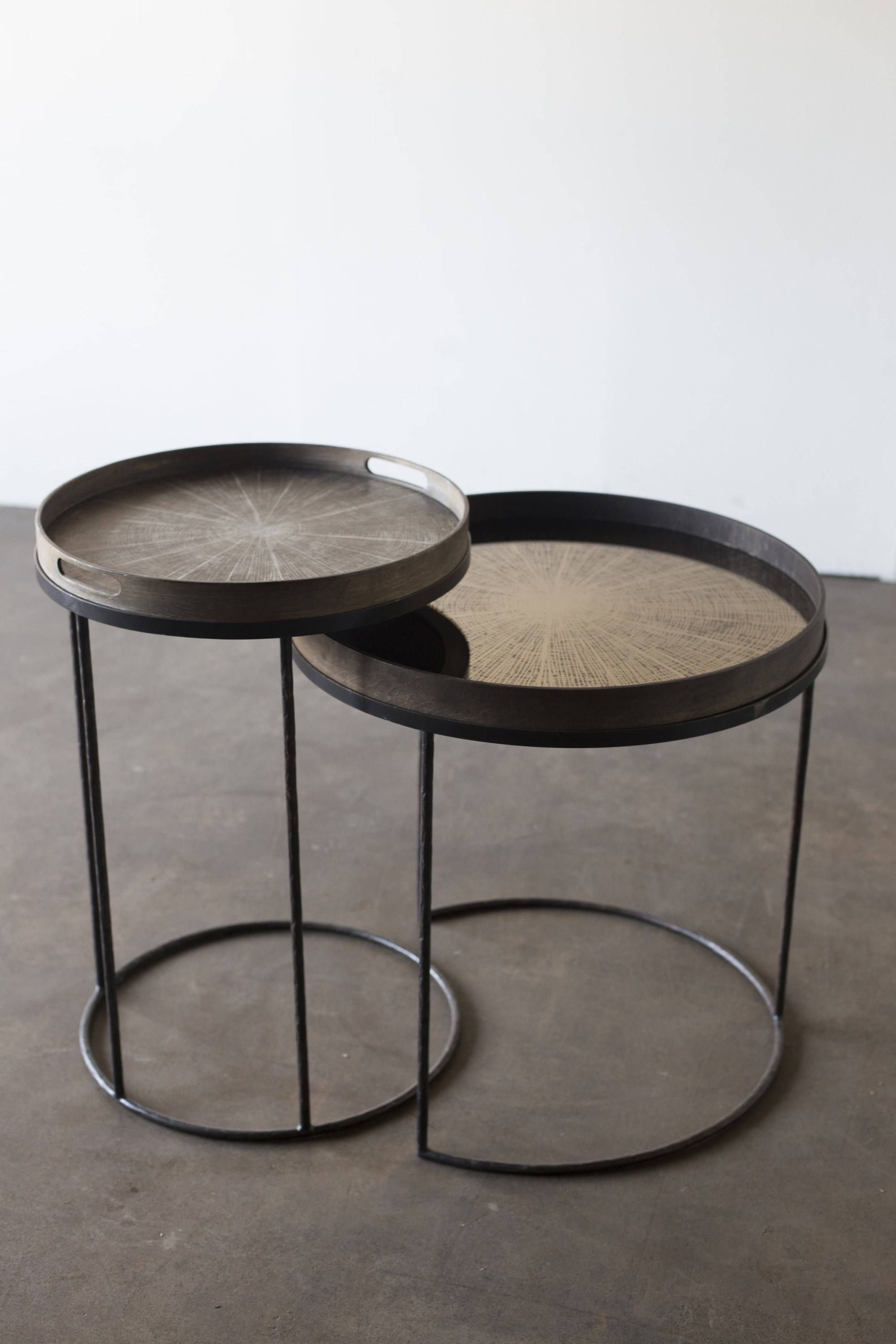 Round Coffee Table With Tray Round Tray Tables - Setnotre pertaining to Round Tray Coffee Tables (Image 21 of 30)