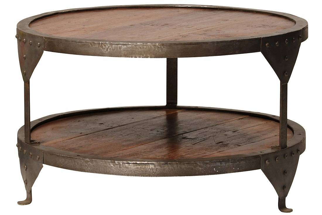 Round Coffee Table Wooden Figaro Iron Round Coffee Table 30 Round intended for Round Steel Coffee Tables (Image 20 of 30)