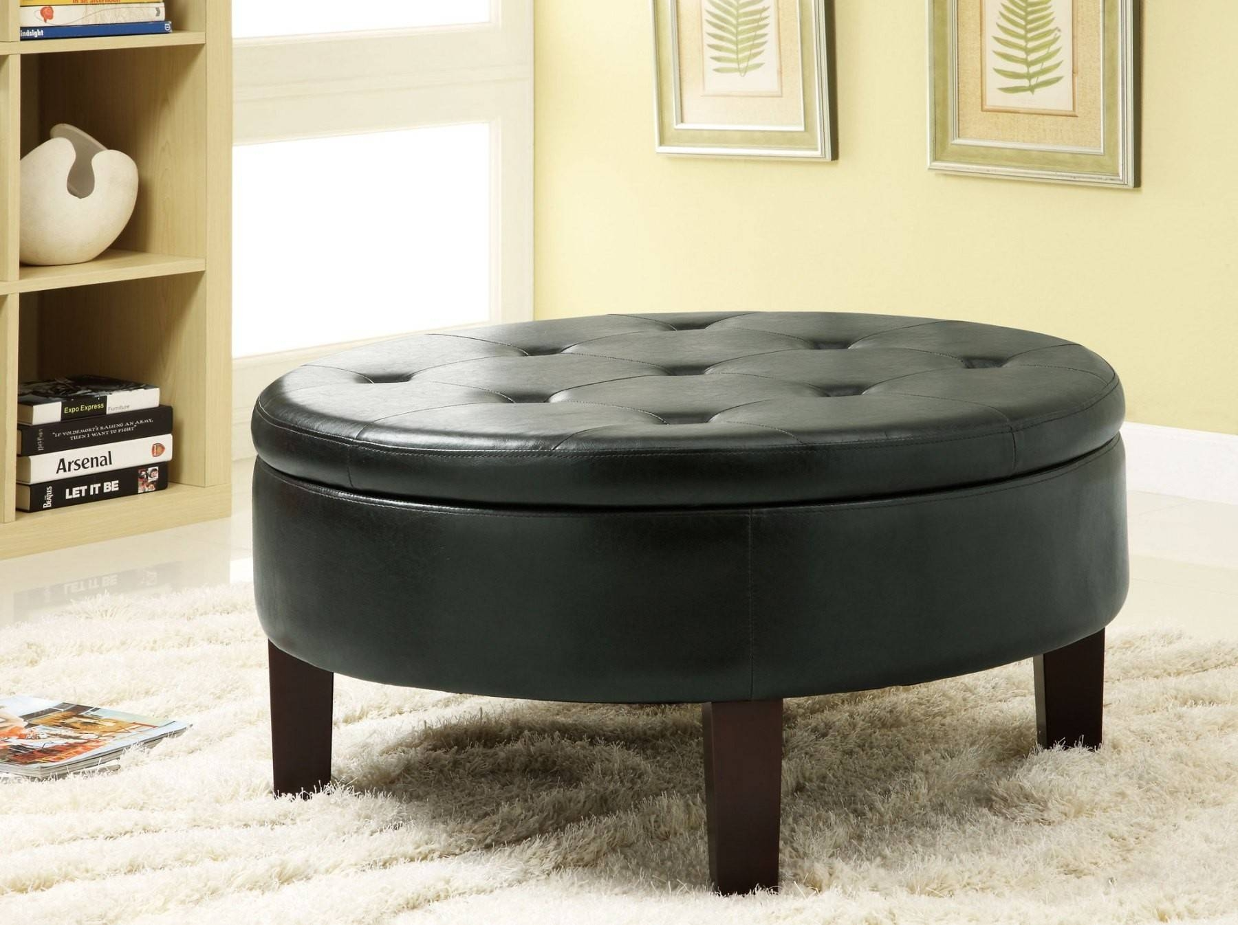 Round Coffee Tables With Storage | Homesfeed pertaining to Dark Wood Round Coffee Tables (Image 26 of 30)