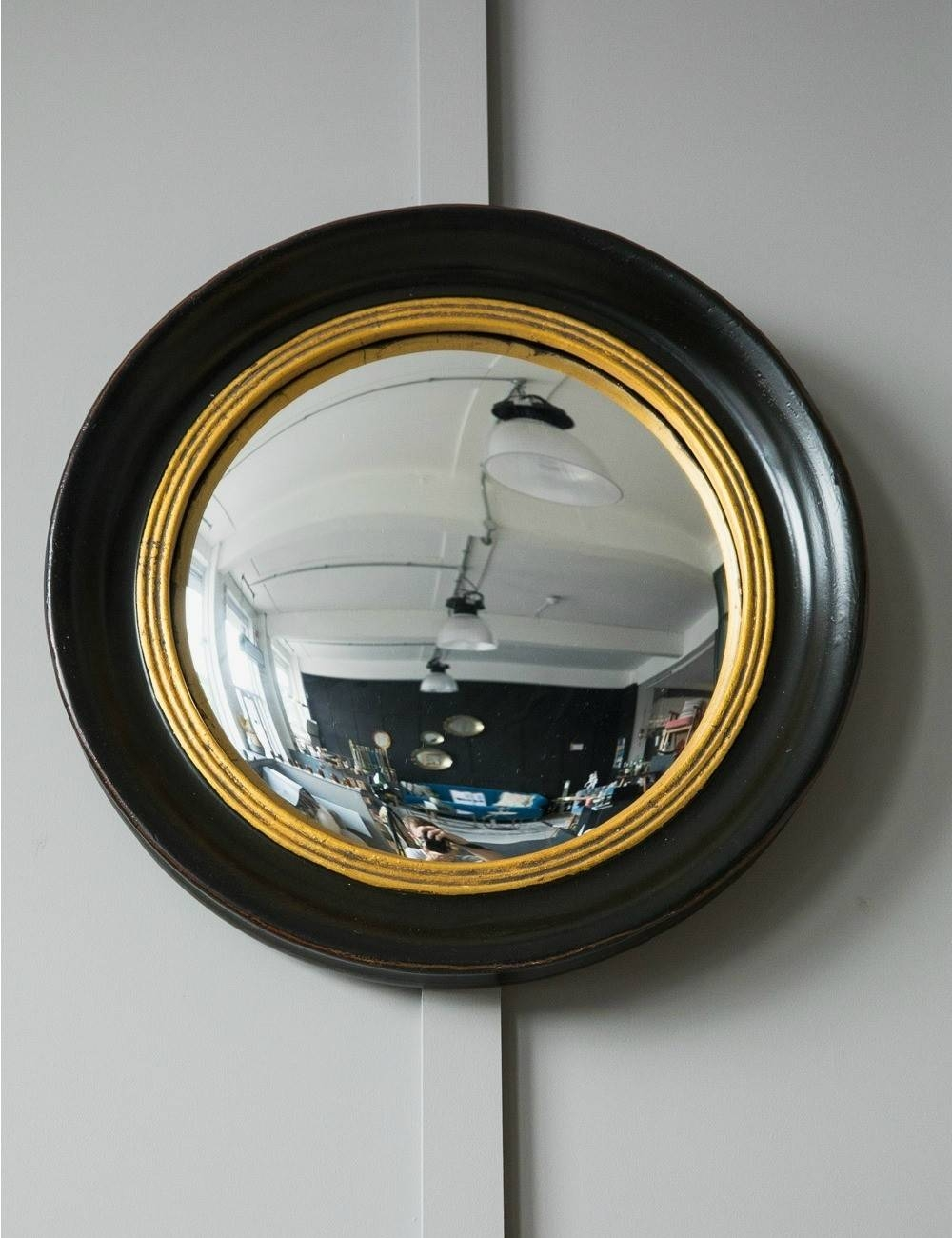 Round Decorative Fish Eye Convex Mirror | Rose & Grey with regard to Small Convex Mirrors (Image 18 of 25)