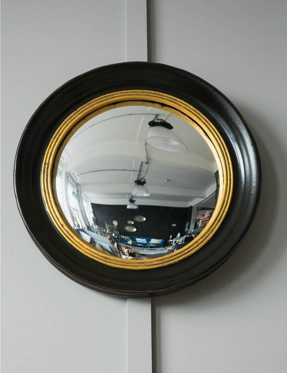 Round Decorative Fish Eye Convex Mirror  Rose & Grey With Regard To  Small Convex
