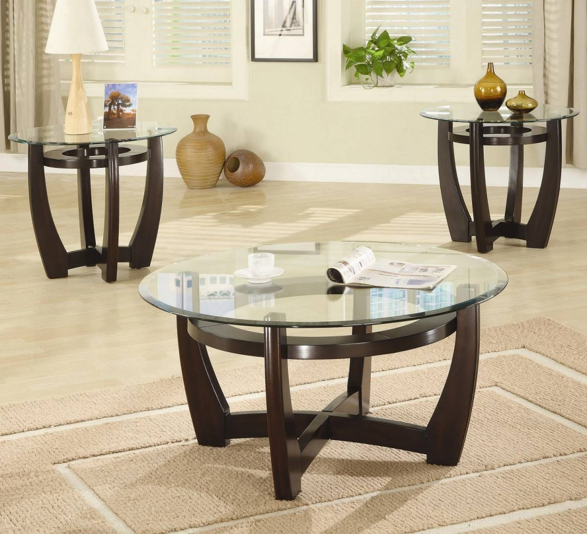 Round Glass Coffee Table Sets Ideas pertaining to Round Glass Coffee Tables (Image 16 of 30)