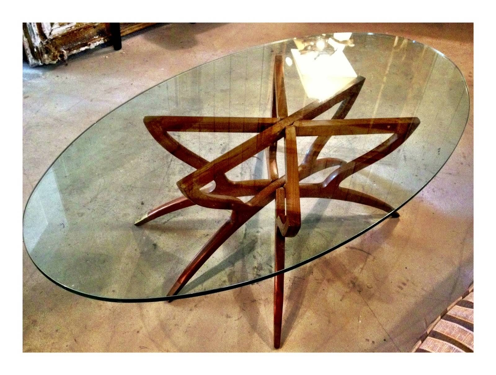 Round Glass Coffee Table Tabletops Tables Legs Shaped Like A for Oval Glass And Wood Coffee Tables (Image 28 of 30)