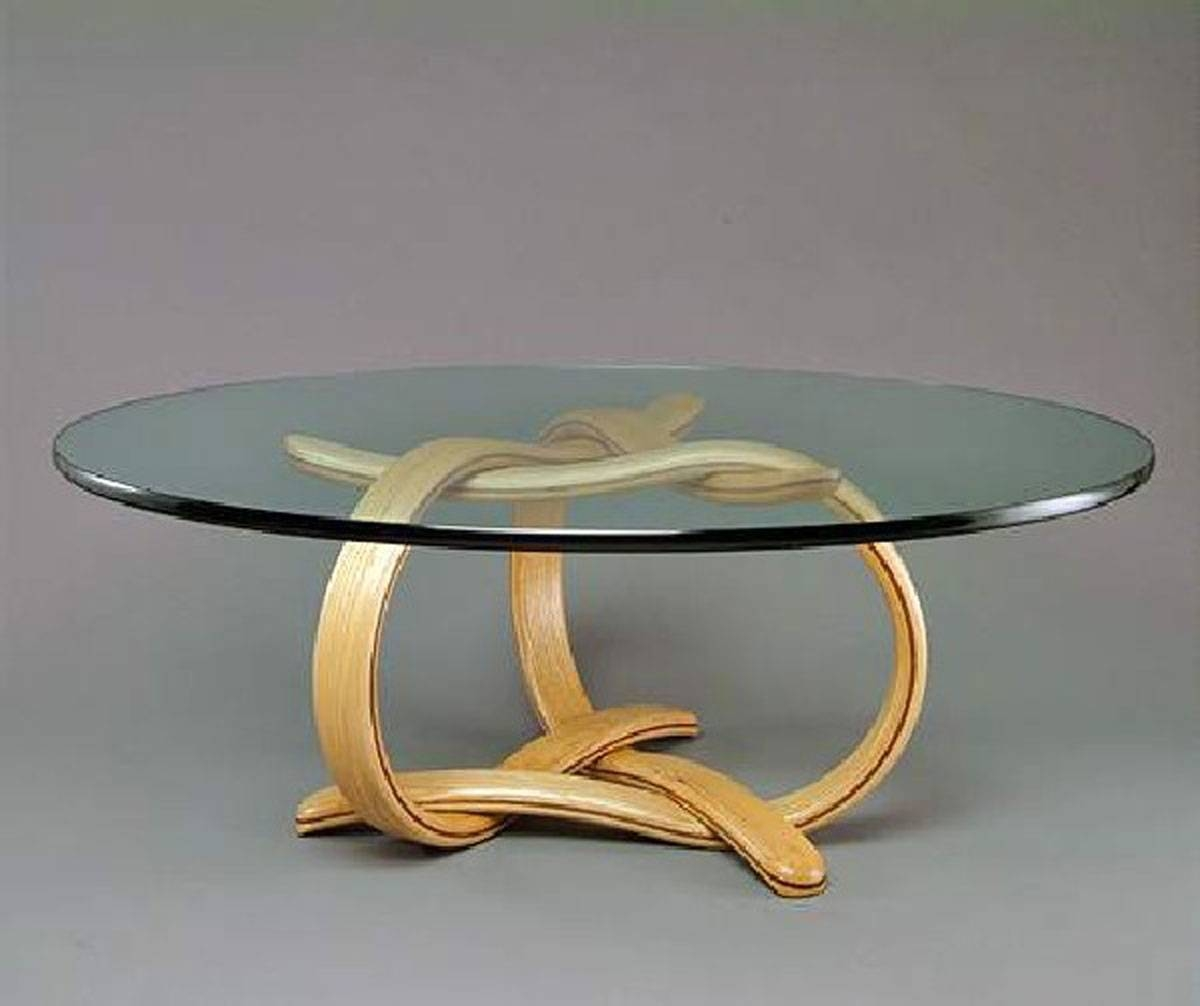 Round Glass Coffee Table Wood : Round Glass Coffee Table – Home for Glass Circular Coffee Tables (Image 27 of 31)