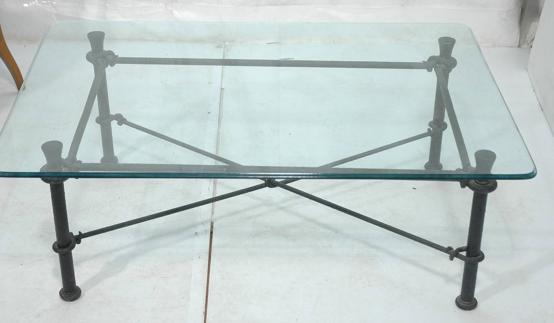 Round Glass Top Coffee Table Wrought Iron intended for Glass And Metal Coffee Tables (Image 26 of 30)