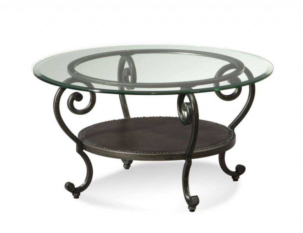 Round Glass Top Coffee Table Wrought Iron with Wrought Iron Coffee Tables (Image 12 of 30)