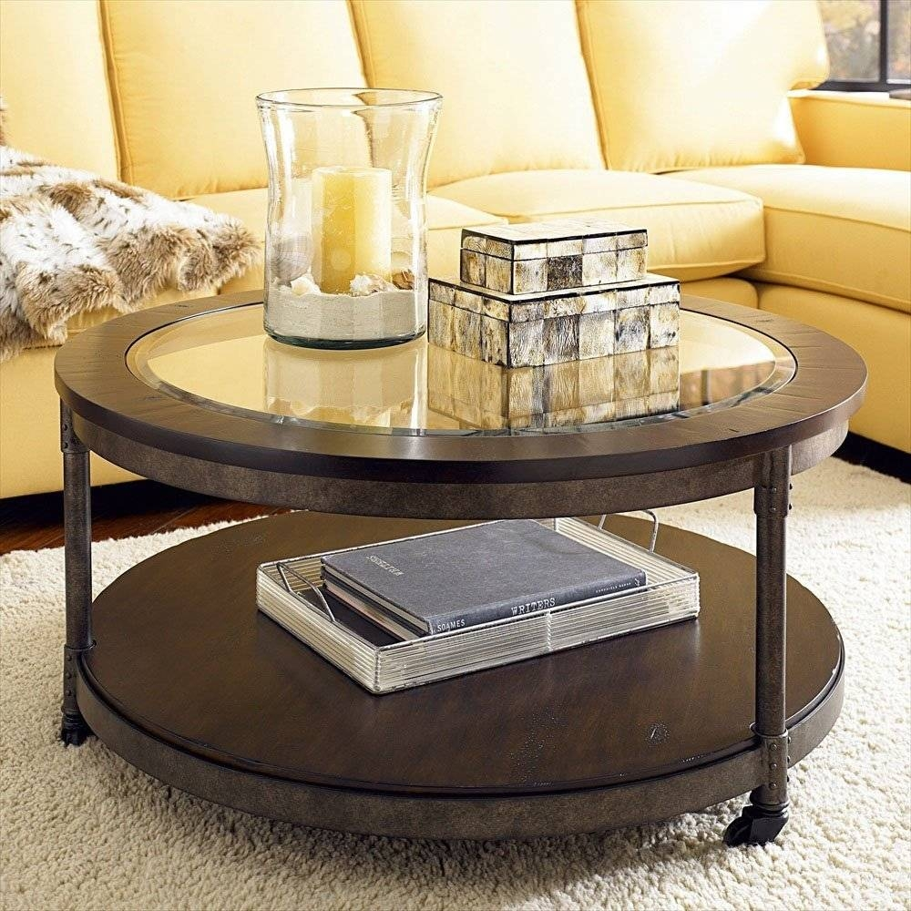 Round Glass Top Coffee Tables Round Glass Top Coffee Table With inside Round Glass and Wood Coffee Tables (Image 22 of 30)