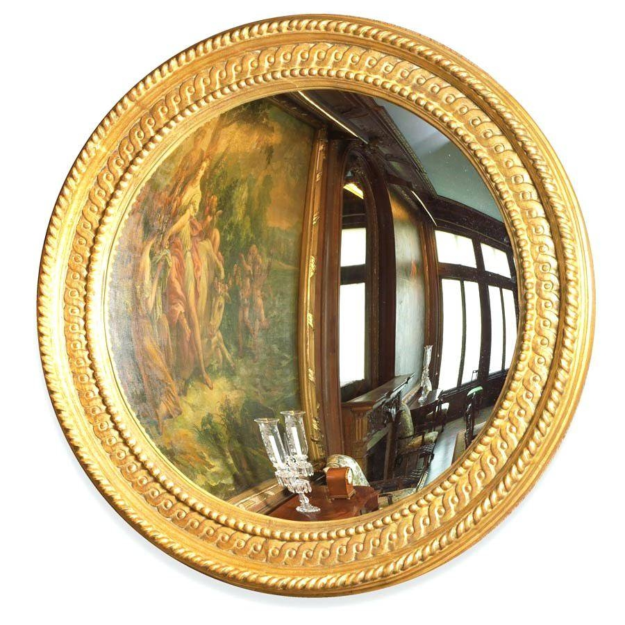Round Gold Mirror – Shopwiz within Gold Round Mirrors (Image 20 of 25)