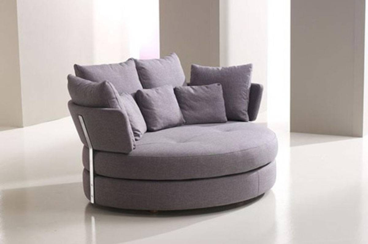 Round Loveseats pertaining to Circular Sofa Chairs (Image 13 of 30)