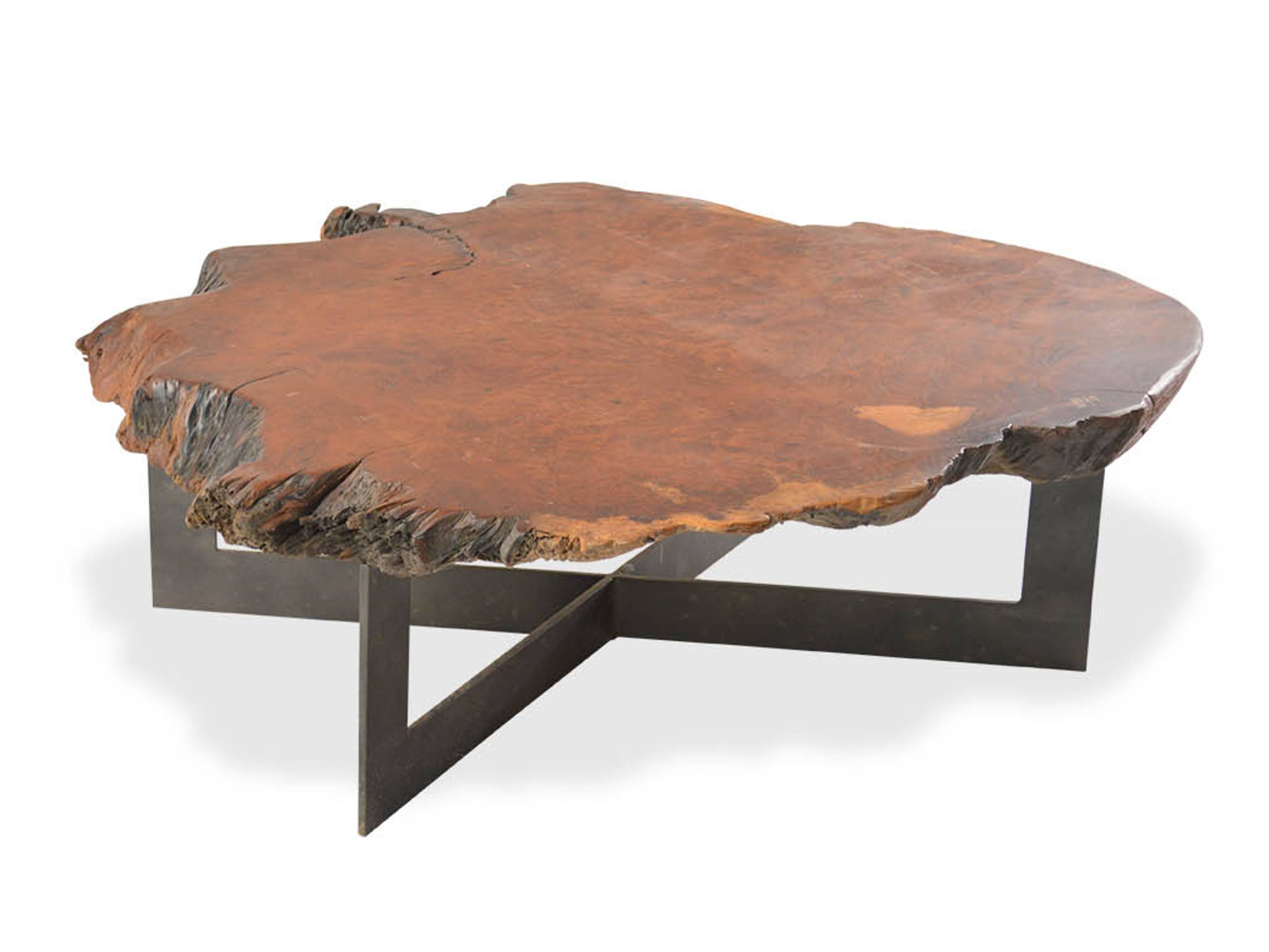 Round Metal And Wood Coffee Table | Coffee Tables Decoration with regard to Round Steel Coffee Tables (Image 23 of 30)