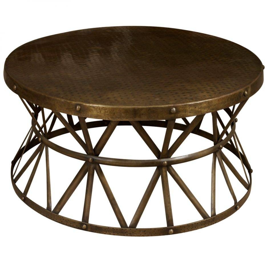 Round Metal Coffee Table For Your Living Space Furniture Heavy For Metal Round Coffee Tables (View 8 of 12)