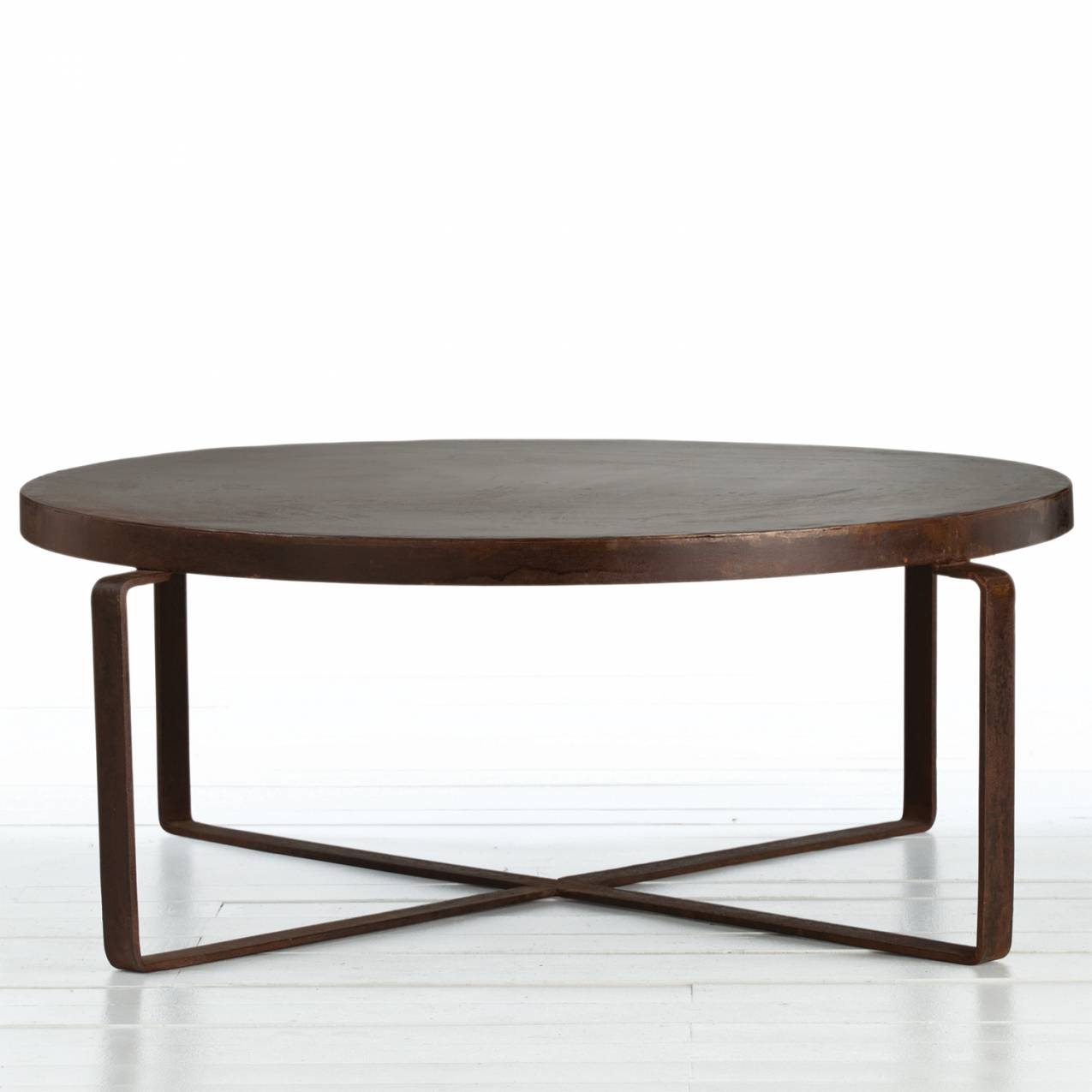 Round Metal Coffee Table regarding Round Steel Coffee Tables (Image 27 of 30)