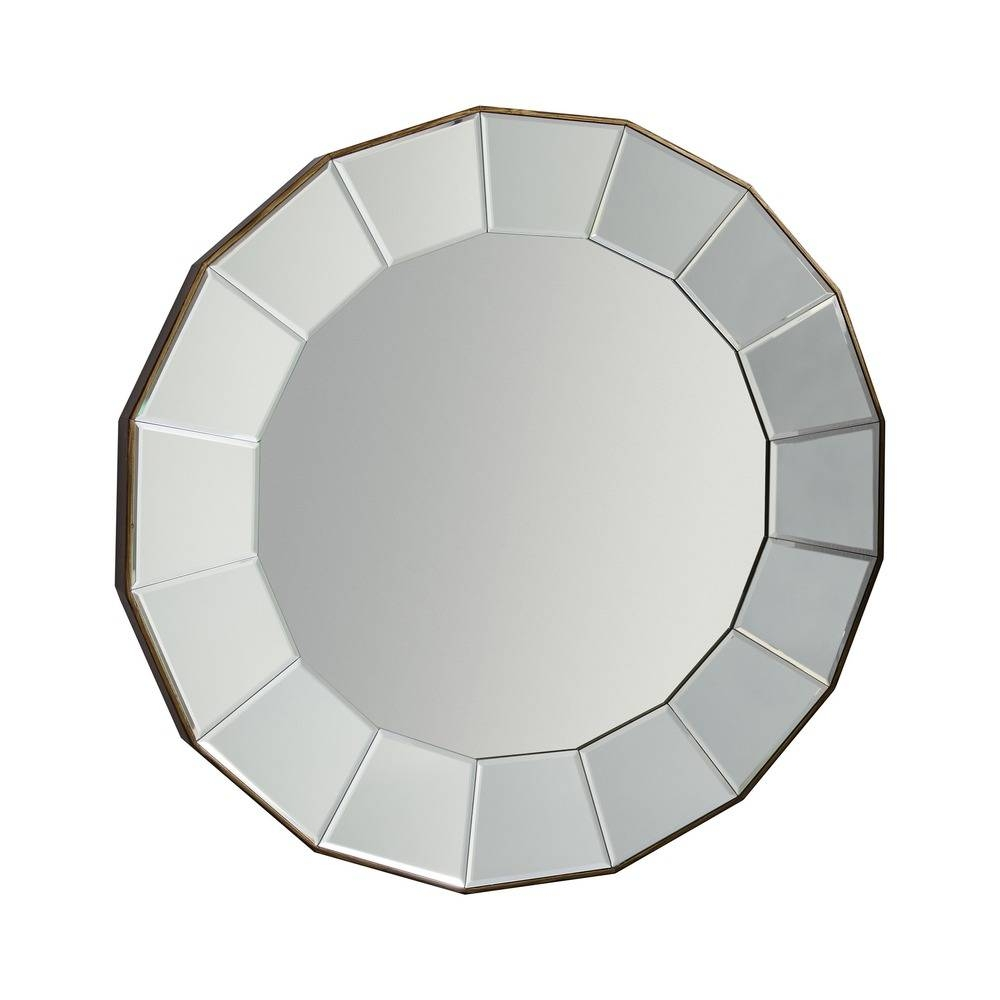 Round Mirror: Lindley Large Bevelled Mirror | Select Mirrors intended for Round Bevelled Mirrors (Image 19 of 25)
