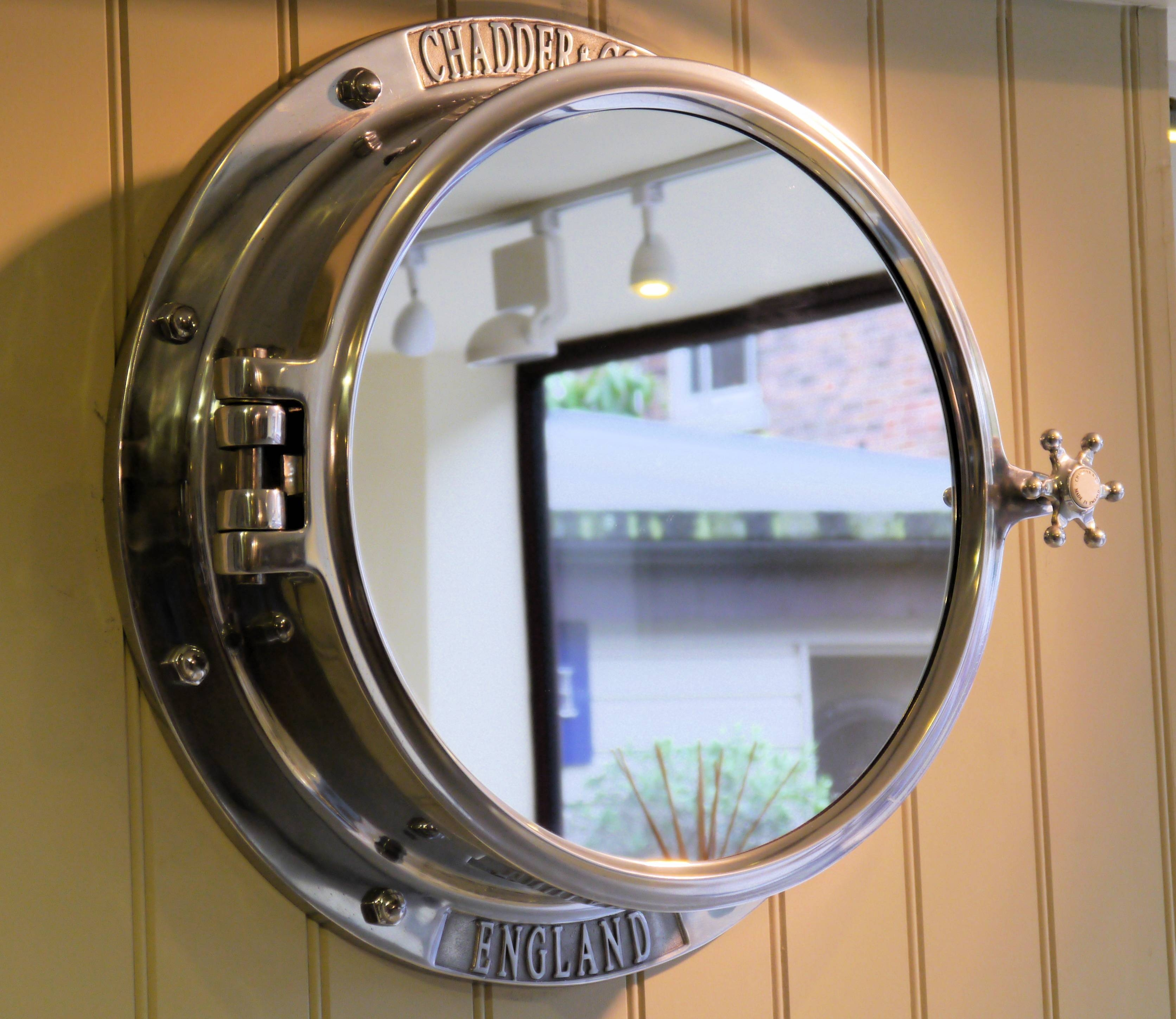 Round Mirror That Looks Like A Window | Vanity Decoration intended for Porthole Wall Mirrors (Image 21 of 25)