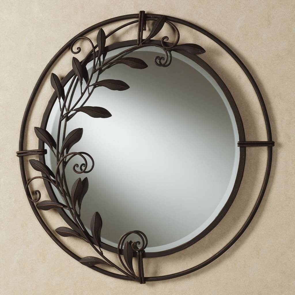 Round Mirror Wall Decor Home : Beauty Round Mirror Wall Decor with regard to Antique Round Mirrors (Image 21 of 25)