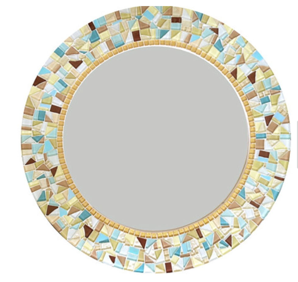 Round Mosaic Wall Mirror - : within Mosaic Wall Mirrors (Image 22 of 25)