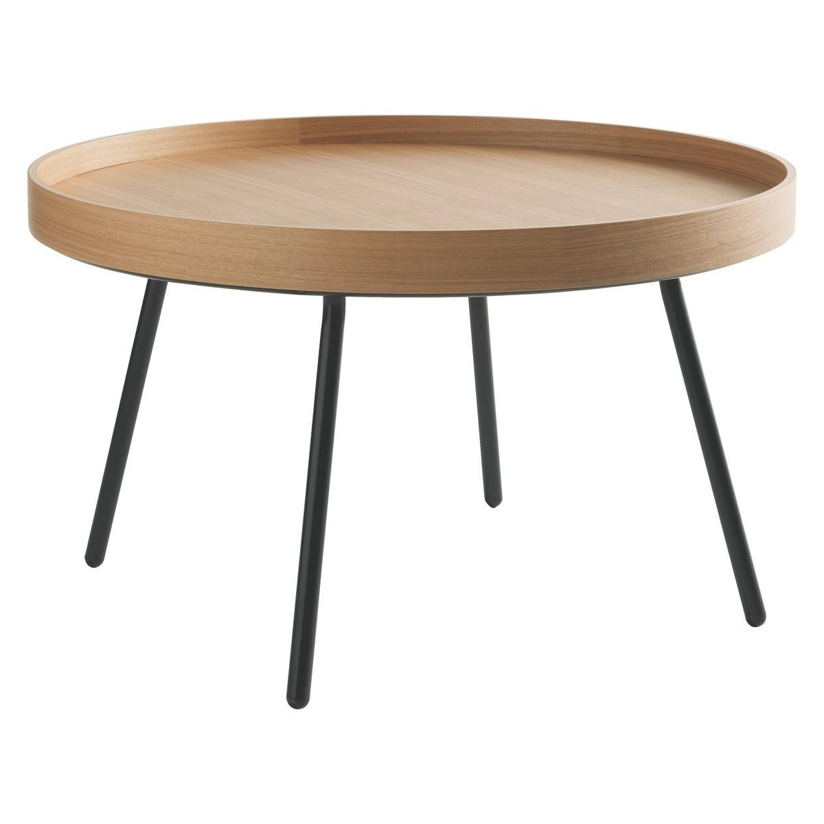 Round Oak Cocktail Table | Coffee Tables Decoration with regard to Round Tray Coffee Tables (Image 24 of 30)