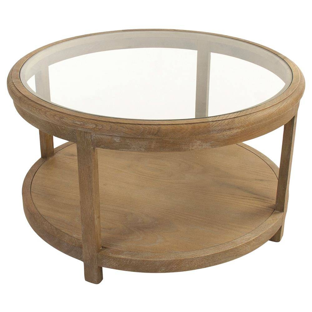 Round Oak Coffee Table Matching For Living Room – Oak Wood Coffee inside Oak And Glass Coffee Tables (Image 24 of 30)