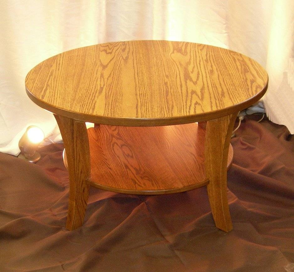 Round Oak Coffee Table Matching For Living Room – Oak Wood Coffee intended for Round Oak Coffee Tables (Image 23 of 30)