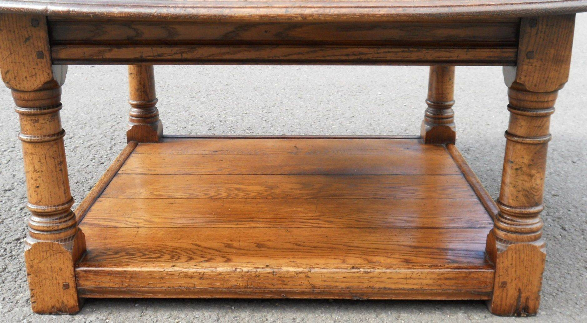 Round Oak Coffee Table - Sold within Round Oak Coffee Tables (Image 22 of 30)