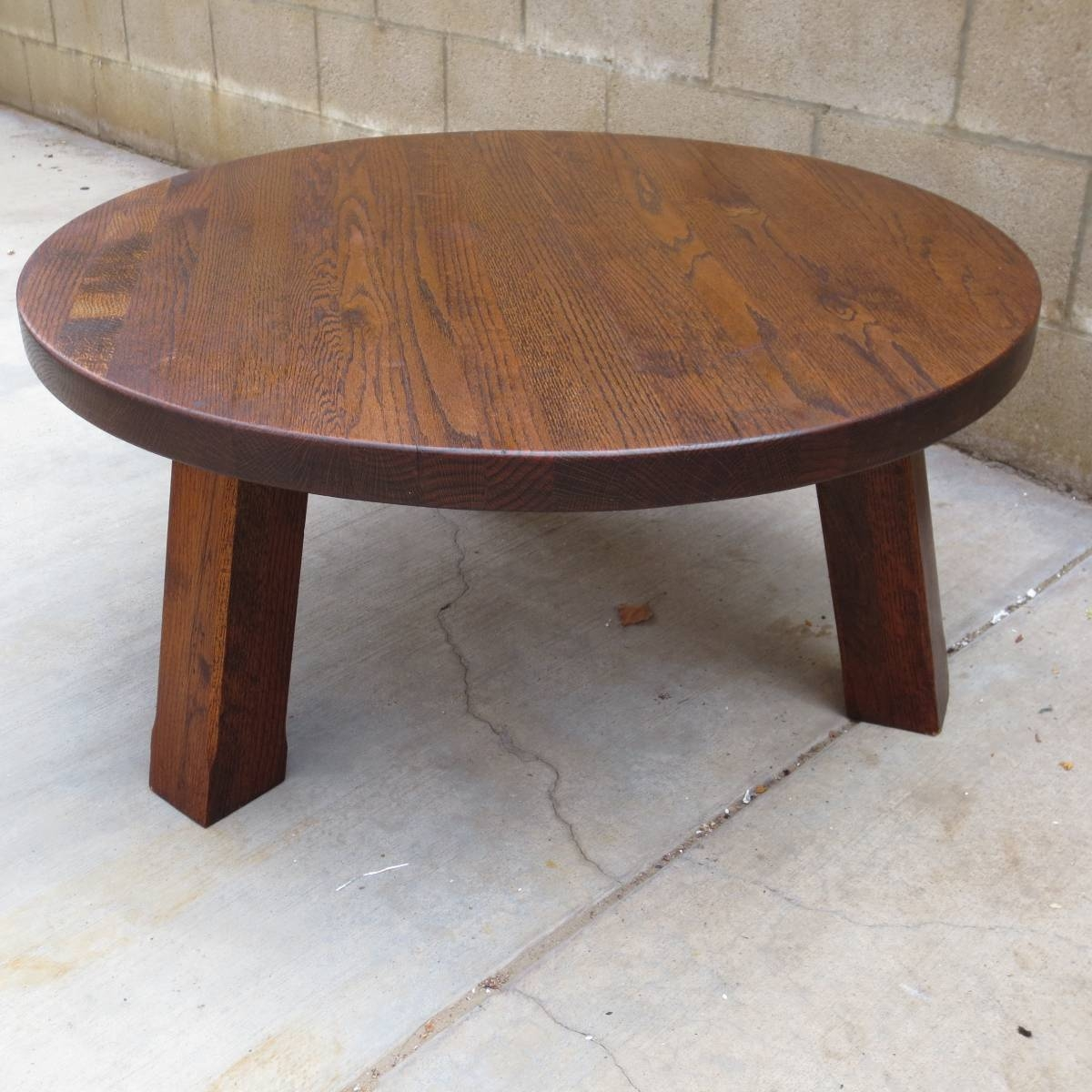 Round Oak Coffee Table With Claw Feet | Coffee Tables Decoration with regard to Round Oak Coffee Tables (Image 24 of 30)