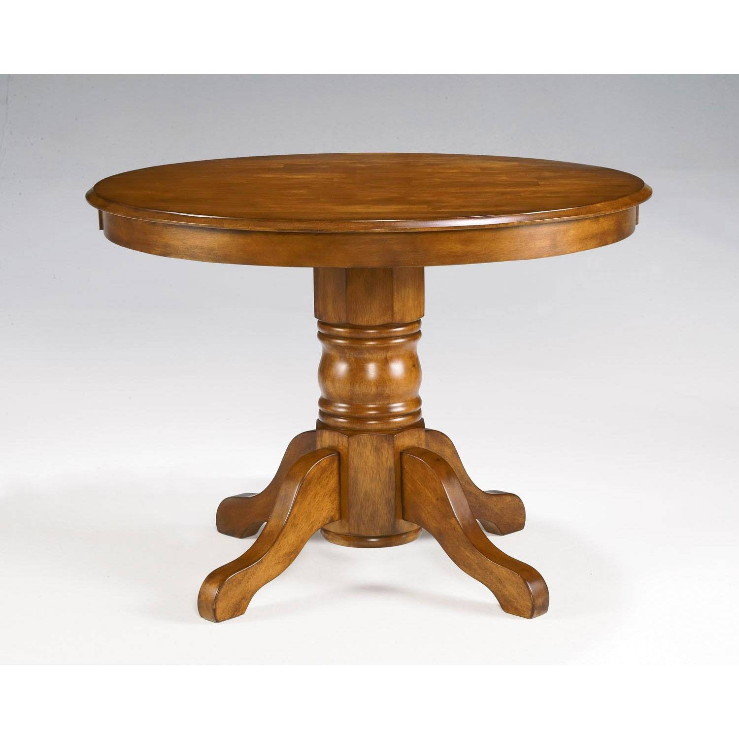 Round Oak Pedestal Coffee Table Including Leick Furniture, Home pertaining to Round Oak Coffee Tables (Image 26 of 30)