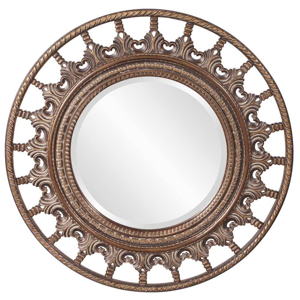 Round Ornate Designer Mirror Hre 095 | Accent Mirrors with regard to Designer Round Mirrors (Image 23 of 25)