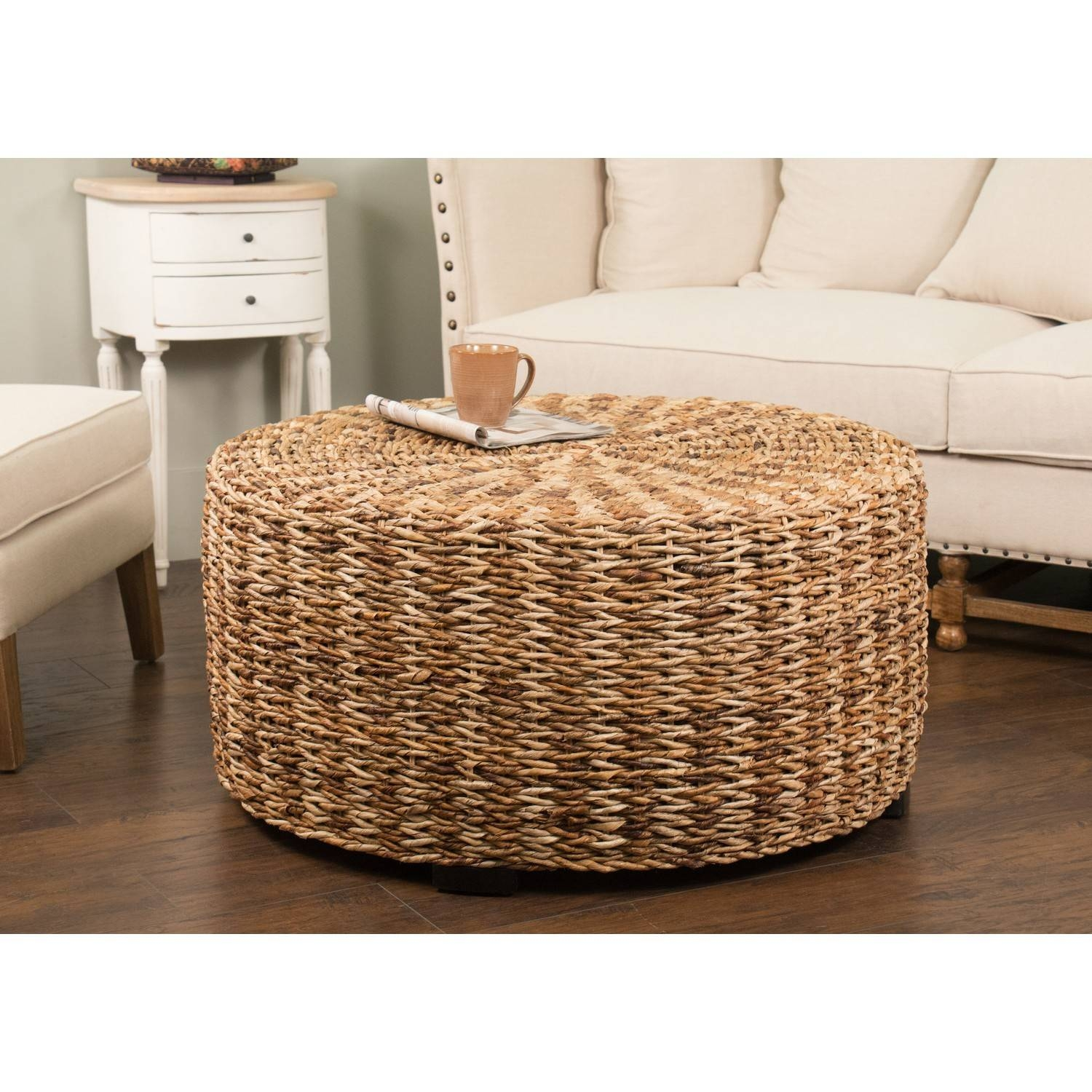 Round Seagrass Coffee Table | Idi Design regarding Round Woven Coffee Tables (Image 23 of 30)