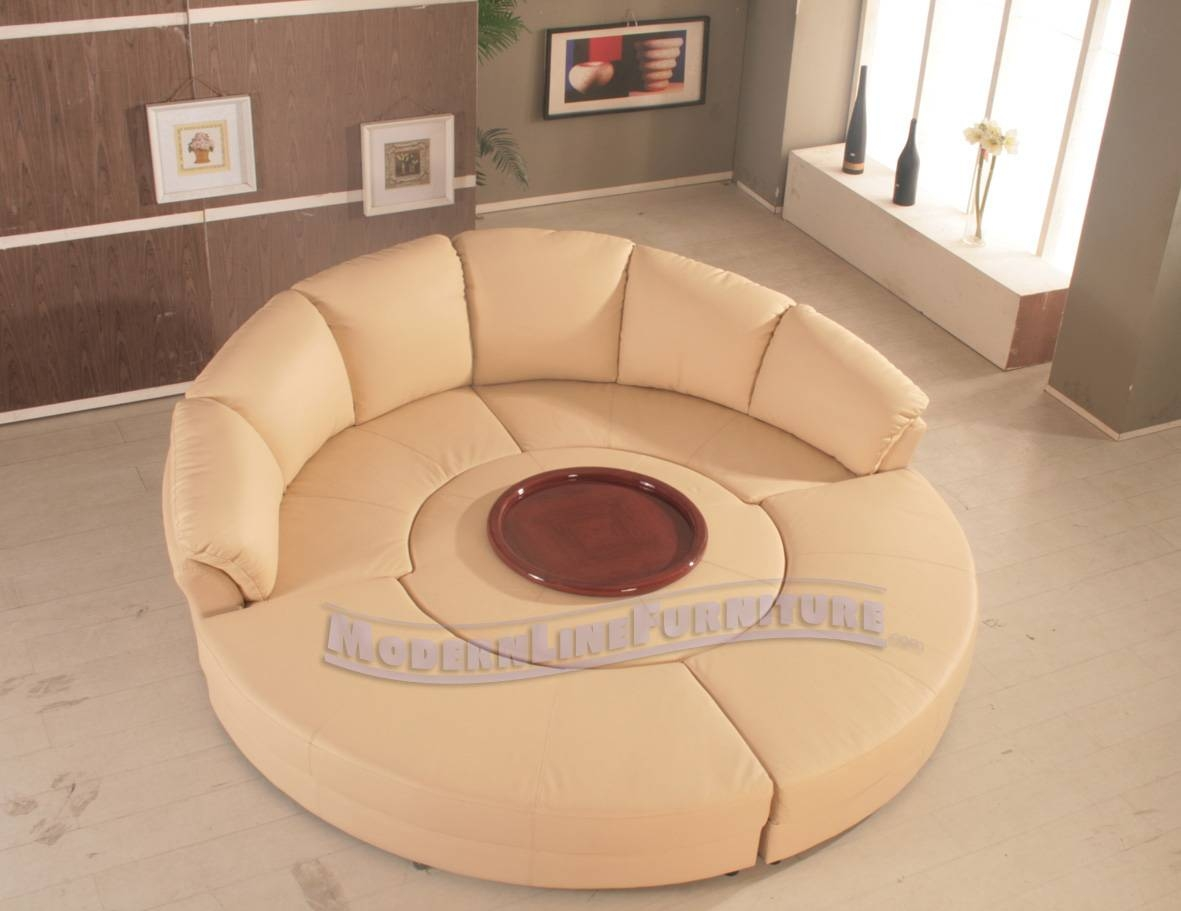 Round Sectional Sofa Bed - Leather Sectional Sofa within Round Sectional Sofa (Image 19 of 30)