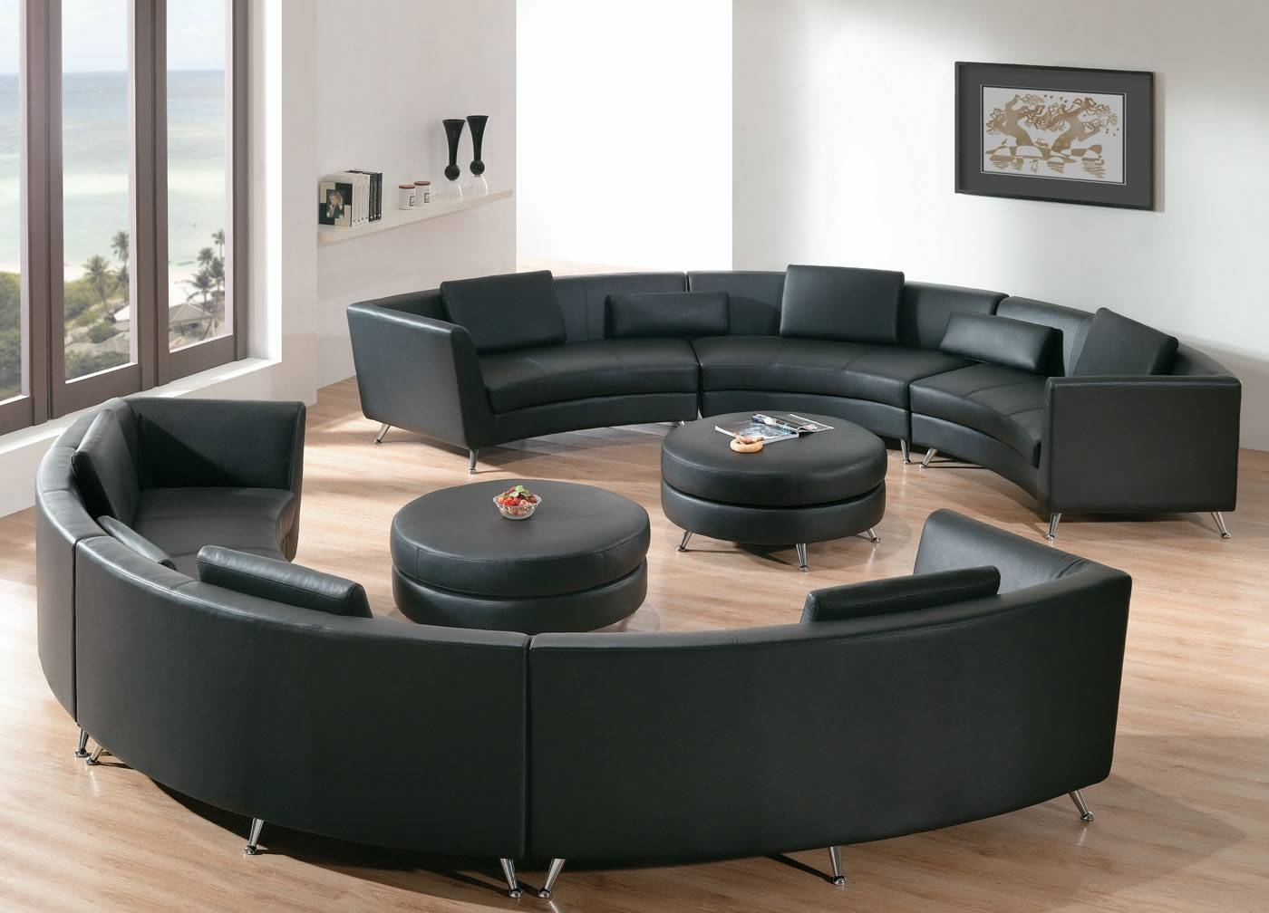 Round Sectional Sofa For Unique Seating Alternative - Traba Homes regarding Circular Sofa Chairs (Image 14 of 30)