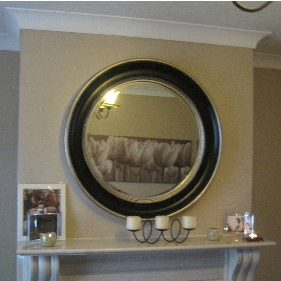 Round Silver Black Bevelled Mirror – Mirrors.ie in Black Bevelled Mirrors (Image 10 of 13)