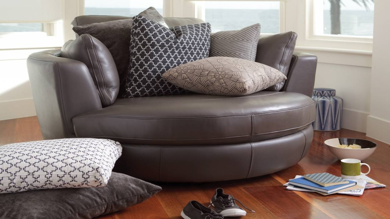 30 Best Collection Of Cuddler Swivel Sofa Chairs