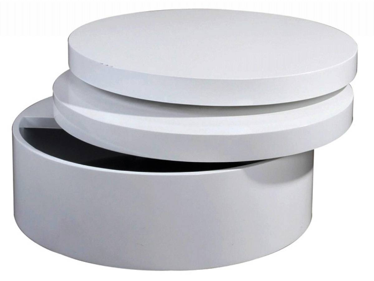 Round Storage Coffee Table ~ Bacill pertaining to White Coffee Tables With Storage (Image 20 of 30)